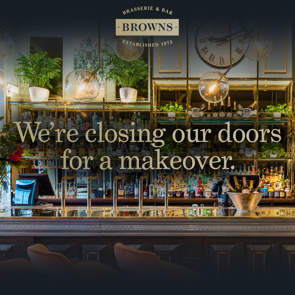 We're closing our doors for a makeover.